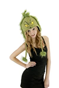 elope Grinch Hoodie Hat, Green, One Size