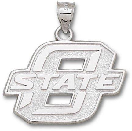 Oklahoma State Cowboys Sterling Silver Block ''O'' 1'' Pendant