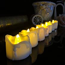 Alcoa Prime New Yellow Flicker Battery Candles Plastic Electric Candles Flameless Tea Lights For Christmas Xmas...
