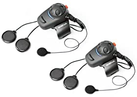 Sena SMH5D-02 Bluetooth Headset/Intercom Full-Face Helmet Kit for Scooters and Motorcycles (Pack of 2)
