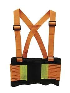 SAS Safety 7261 28-32 Inch Hi-Viz Deluxe Back Support Belt, Small