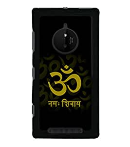 printtech Lord Om Namah Shivaya Back Case Cover for Nokia Lumia 830