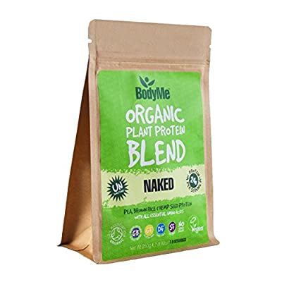 BodyMe Organic Vegan Protein Powder Blend | Naked Raw Natural | 250g | UNSWEETENED with 3 Plant Proteins