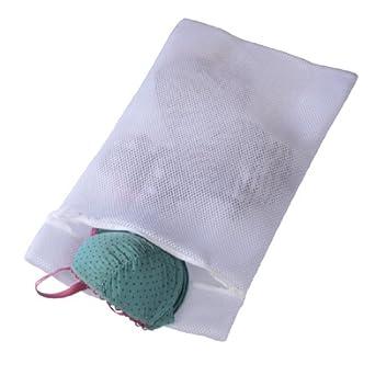 Xavax Wäschenetz für empfindliche Materialien (z.B. Dessous, Gardinen, Feinstrumpfhosen, Kaschmir, Merino, 45 x 25 cm) weiß
