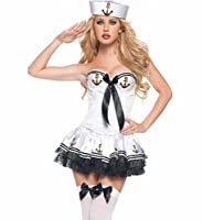 Queen's Park Sexy Navy Blue Sailor Girl one Size Halloween Costume dress from Queen's Park