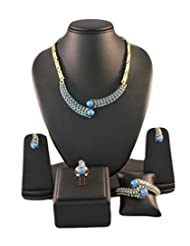 Blue Designer Jewellery Set