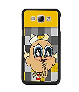 Fuson 2D Printed Cartoon Designer back case cover for Samsung Galaxy A8 - D4126