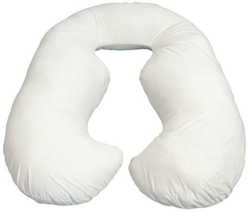 Leachco Back 'N Belly Contoured Body Pillow, Ivory front-608361