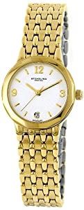 Stuhrling Original Classic Marquis Men's Quartz Watch with Silver Dial Analogue Display and Gold Stainless Steel Bracelet 604.12332