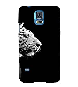 PrintVisa Animal Tiger Design 3D Hard Polycarbonate Designer Back Case Cover for Samsung Galaxy S5 Mini