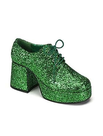 Amazon.com: Green Glitter Mens Disco Platform Shoe - XL: Clothing