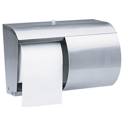 Kimberly-Clark Professional 09606 Coreless Double Roll Tissue Dispenser, 7 1/10 x 10 1/10 x 6 2/5, Stainless Steel