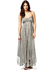 Indigo Collection Pure Cotton Block Print Maxi Dress