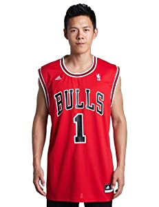 NBA Chicago Bulls Red Replica Jersey Derrick Rose #1 by adidas