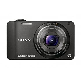 Sony DSC-WX10 Cyber-Shot 16.1 MP Exmor R CMOS Digital Still Camera with 7x Wide-Angle Optical Zoom G Lens, 3D Sweep Panorama, and Full HD 1080/60i Video (Black)