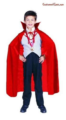 RG Costumes 75009 Red Nylon Taffeta Childs Costume Cape - 36 Inches