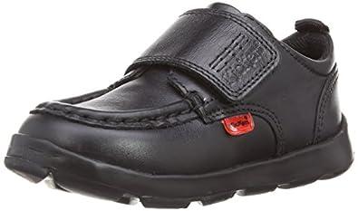 Kickers Boys Jiri Strap Loafers 112872 Black 8 UK Child, 25 EU
