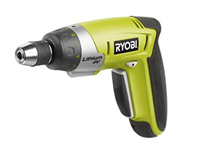 Ryobi CSD4130GN 4V 1.5Ah Li-Ion Screwdriver with Gripcase and Accessory Set (30 pieces)