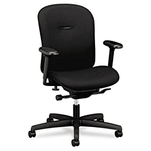 "Hon MA106NT10 Low-Back Task Chair, 27-1/2""x36""x39-1/2"", Black"