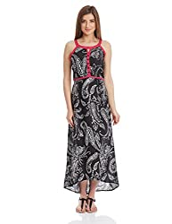 Shree Women's A-Line Dress (15367A_Black_XL)