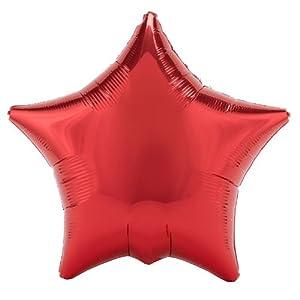 "Red Star 18"" Mylar Balloon"