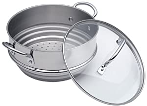 Calphalon Stainless Steel Universal Steamer Insert with Lid by Calphalon