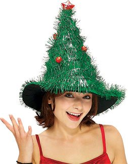 Cheap Cosplay Costumes  Sale on On Sale Adult S Light Up Christmas Tree Costume Hat With Bos