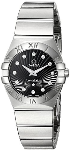 Omega Women's 123.10.24.60.51.001 Constellation 09 Brushed Black Dial Watch