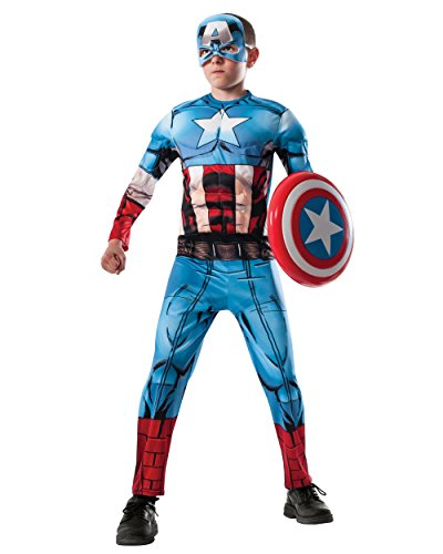 Marvel Avengers Assemble Captain America Deluxe Muscle-Chest Costume