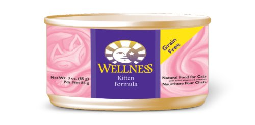 Wellness Canned Cat Food, Kitten Recipe,3-Ounce Cans,24 Pack.