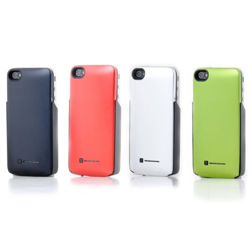1600mah Backup Rechargeable Battery Case/housing/cover for Iphone 4 Free Shipping