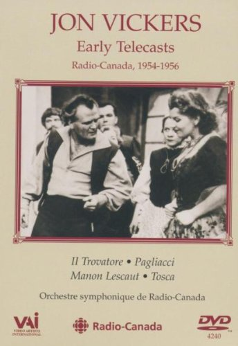 Jon Vickers - Early Telecasts, Radio-Canada 1954-1956