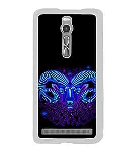 ifasho Designer Phone Back Case Cover Asus Zenfone 2 ZE551ML ( Blue Black White Checks Print Pattern )