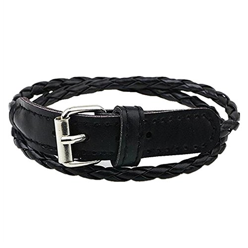 Melodyep Korean Fashion Simple Clasp Braided Leather Bracelet Female Multi-Layer Winding(C3) (Dragon De Fisher Price compare prices)