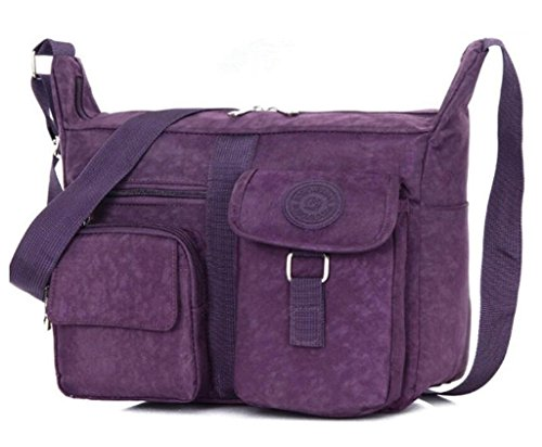Bagtopia Women's Casual Shoulder Bags Travel Bag Messenger Cross Body Nylon Bags with Lots of Pockets