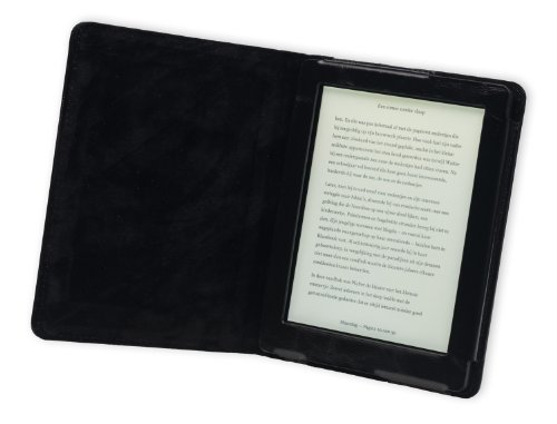 Gecko Covers Custodia per Kobo Aura in Vera Pelle, Nero