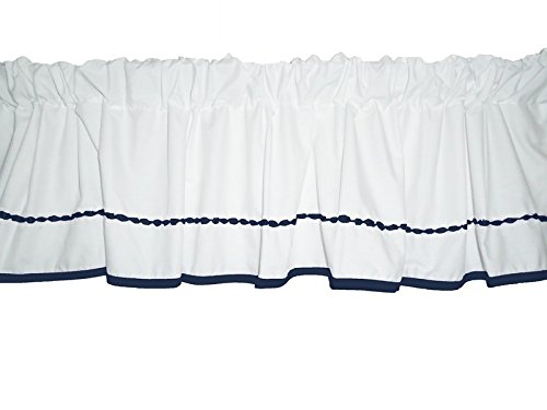 Baby Doll Unique Window Valance, Navy