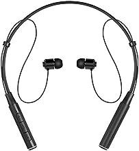 Bluetooth Auriculares auiv Wireless Auriculares con Neckband Auriculares In-Ear estéreo schweißabweisend anulación Earbuds con micrófono (8horas de tiempo de funcionamiento) (Sliver) (Negro)