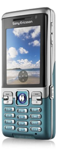 Sony Ericsson C702 Cool Cyan UMTS Outdoor Handy