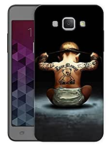 """Humor Gang Ninja Baby Printed Designer Mobile Back Cover For """"Samsung Galaxy A8"""" (3D, Matte, Premium Quality Snap On Case)"""
