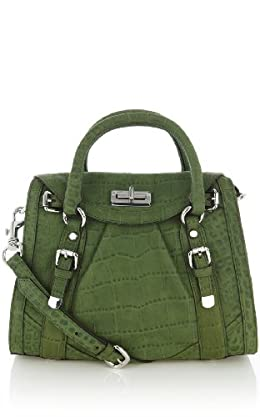 Croc Suede Box Bag