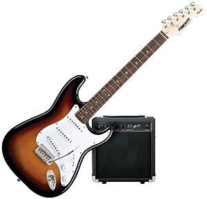 squier by fender strat electric guitar starter pack sunburst musical instruments