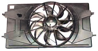 TYC 620900 Saturn Ion Replacement Radiator/Condenser Cooling Fan Assembly