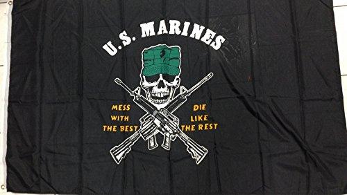 BANDIERA STATI UNITI ARMY US MARINES 150x90cm - BANDIERA ESERCITO AMERICANO - USA 90 x 150 cm - AZ FLAG