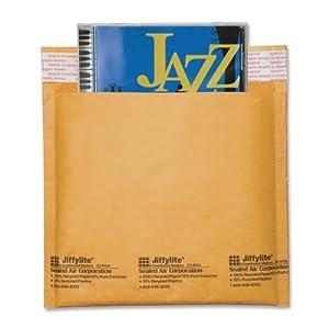 Sealed Air Jiffylite Brown Kraft CD Disc Air Bubble Mailers, 25 Pack (44169)