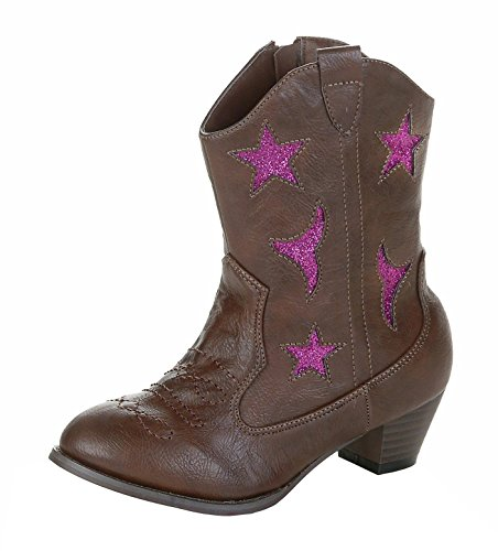 Jelly Beans Girl Gega Brown Synthetic Pu Western Boot 4.0M Us