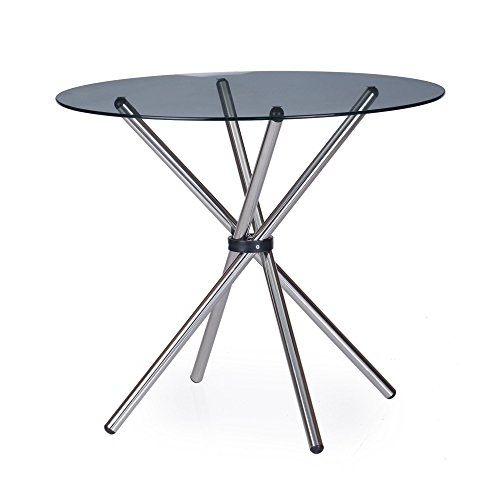 Nilkamal Indiana Three Seater Dining Table (Clear Glass)