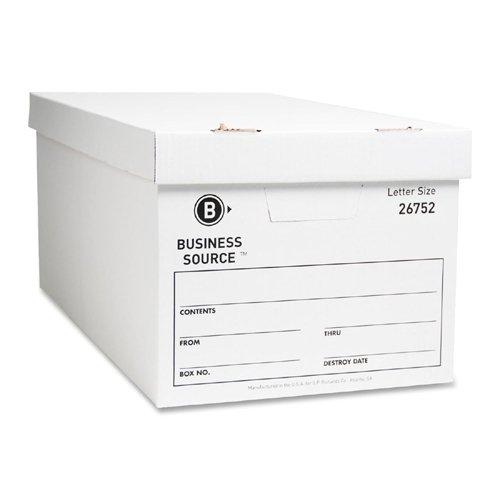 Business Source Storage Box Lift Off Lid Letter 12X24X10 12
