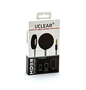 UCLEAR Digital Pulse Wired Drop-In High Definition Helmet Speakers Compatible with iPhone and Android OS by UClear