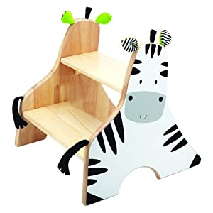 Wonderworld Zebra Step Stool by Smart Gear LLC